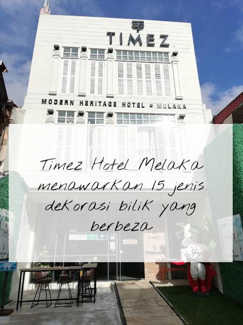 Timez Hotel Melaka menawarkan 15 Dekorasi Bilik berbeza