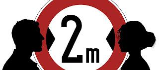 Zwei Meter Abstand