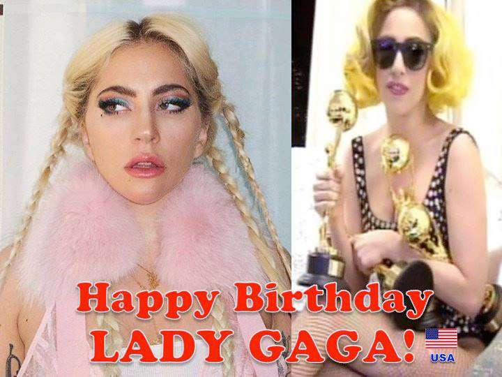Lady Gaga's Birthday Wishes For Facebook