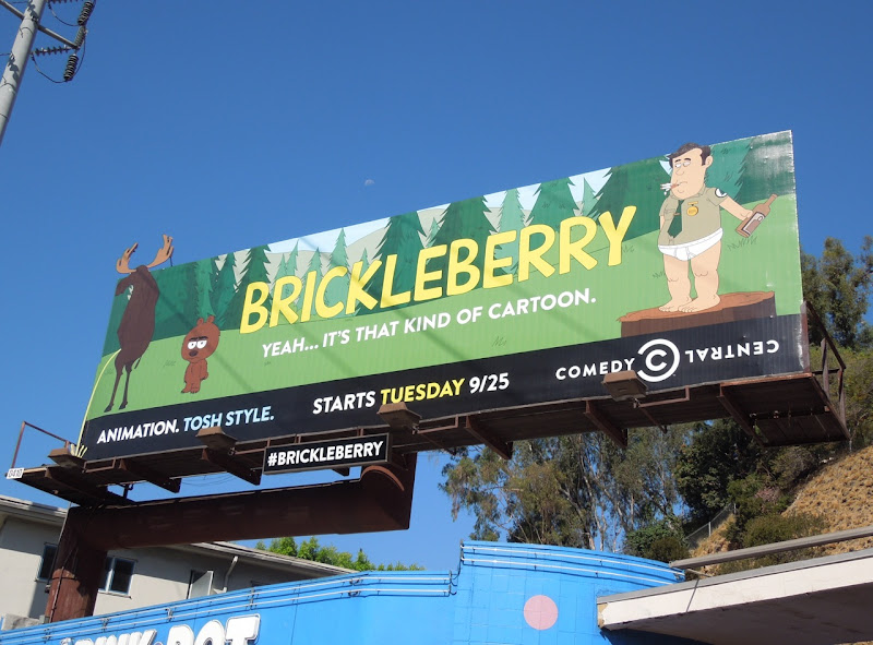 Brickleberry cartoon billboard