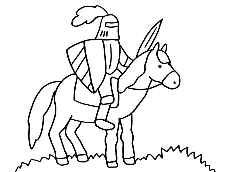 malvorlagen ritter mit pferd