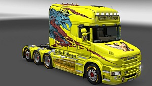 Scania T Longline Griffin to Dragon