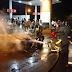 Após abastecimento em posto de combustíveis, veículo incendeia e fica destruído na cidade de Patos