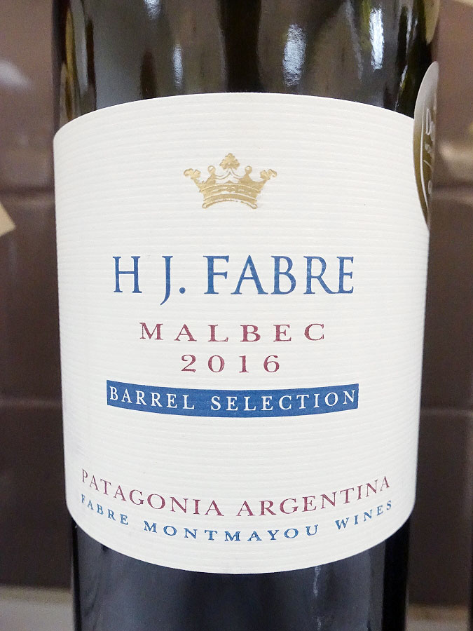 H J. Fabre Barrel Selection Malbec 2016 (90 pts)
