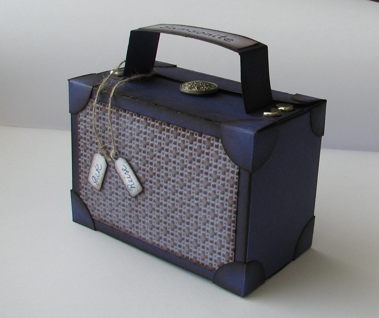 kleiner koffer geschenk