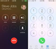 iOS 7 Dialer and Contact