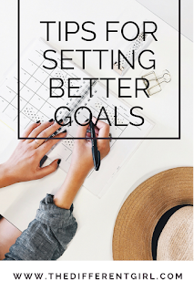 Setting Goals, The Different Girl, how to plan, a new year