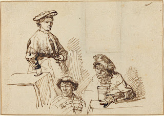Sketches from a Tavern - attributed to Rembrandt van Rijn - NGA Images