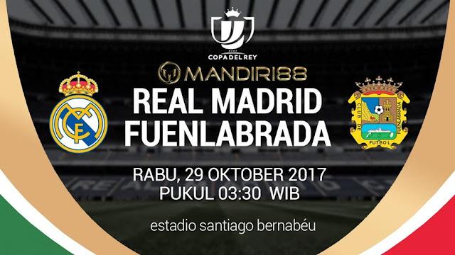 Real Madrid diprediksi akan menurunkan kekuatan lapis kedua ketika menjamu Fuenlabrada pada Berita Terhangat Prediksi Bola : Real Madrid Vs Fuenlabrada , Rabu 29 Oktober 2017 Pukul 03.30 WIB