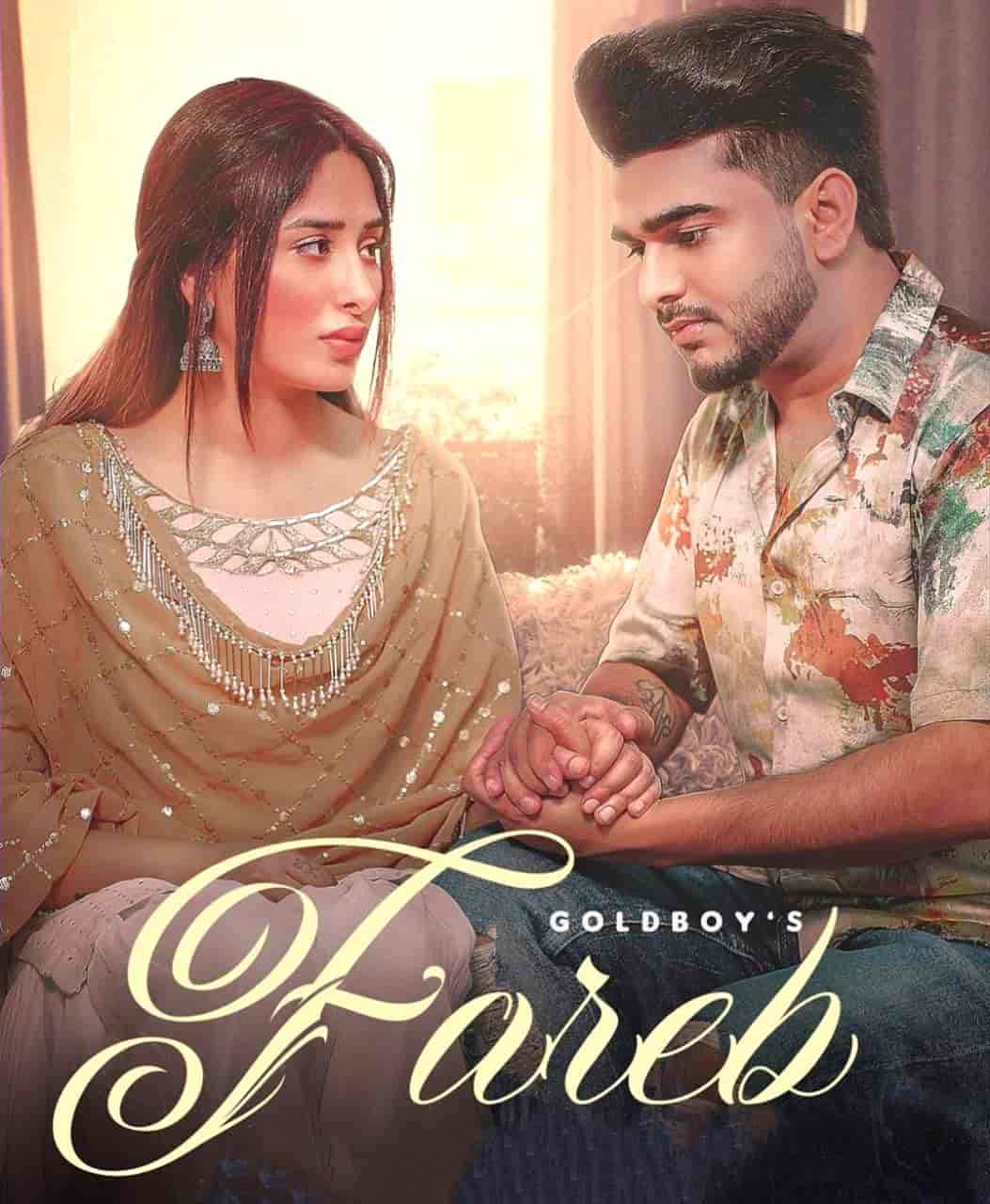 Fareb Sad Punjabi Song Image Features Goldboy and Mahira Sharma