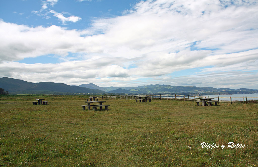 Área recreativa del Cabo Busto en Asturias