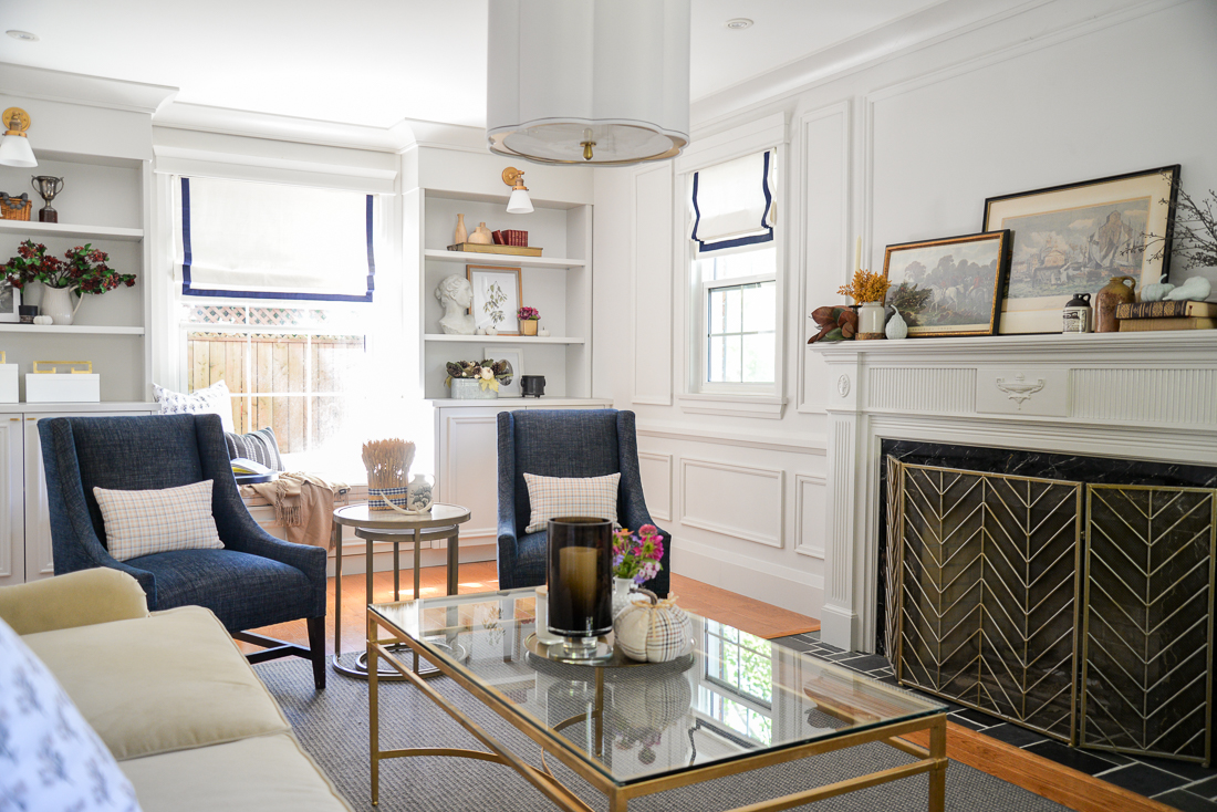 cozy fall decorating ideas, cozy fall living room, fall living room decor ideas