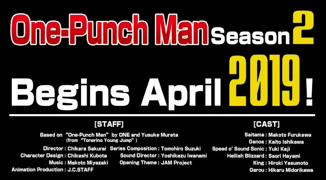 Saiama One Punch Man Season 2