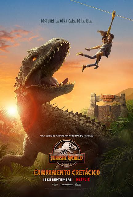 Cartel Jurassic World: Campamento Cretácico