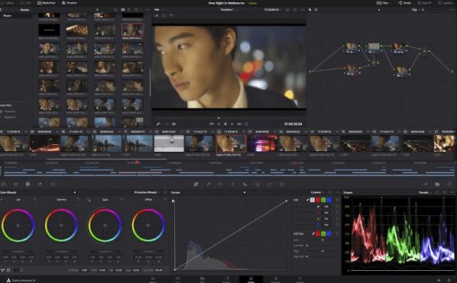 DaVinci Resolve لتحرير الفيديو وتصحيح الالوان لنظام ماك