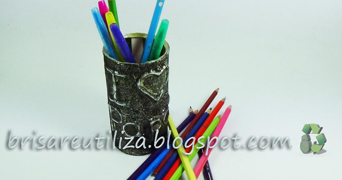 ecobrisa reciclaje como hacer un lapicero con una lata On como hacer un lapicero reciclado