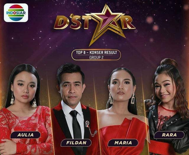 Hasil Konser Grup 2 Top 8 D'Star Indosiar 2019 Tadi Malam