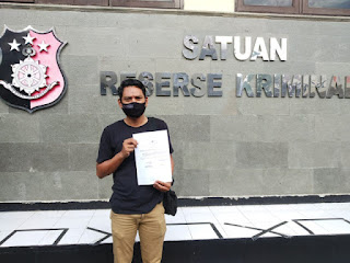 IWO Laporkan Mantan Kuwu Gebang kulon Kab Cirebon