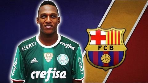 Barca chi 11.8 triệu euro để có được Yerry Mina