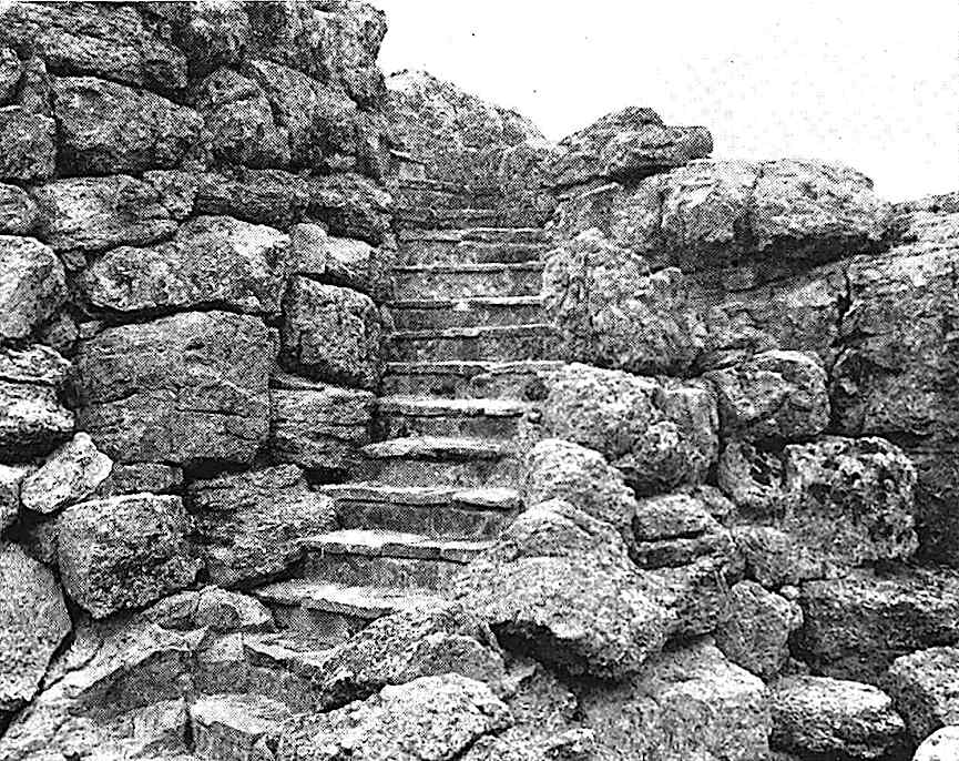 stone steps, a 1933 photograph