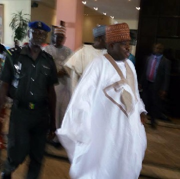 Ali Modu Sheriff angrily walked out of the venue of Peoples Democratic Party's meeting on Saturday after he was dethroned.