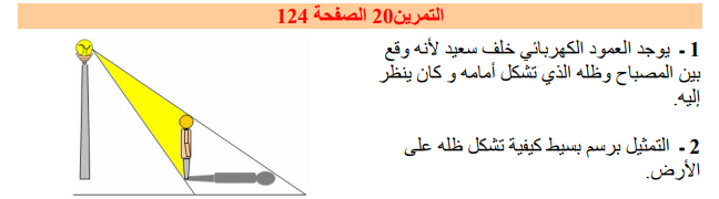 حل تمرين 20 صفحة 124 فيزياء للسنة الأولى متوسط الجيل الثاني
