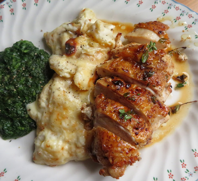 Pan Roasted Chicken Breasts with Thyme