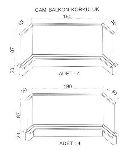 Fransız balkonlar için akvaryum camın (cam balkon korkuluk) fiyatı kaç TL?