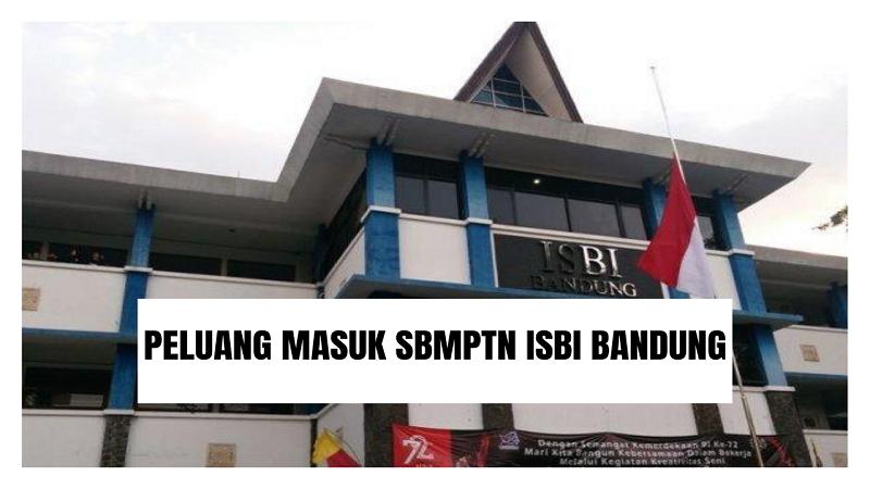 Peluang Masuk SBMPTN ISBI Bandung 2021/2022