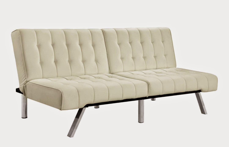 Sofa Dorel Home Products Emily Splitback Futon, Vanilla