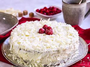 Gâteau Edelweiss framboise chocolat blanc