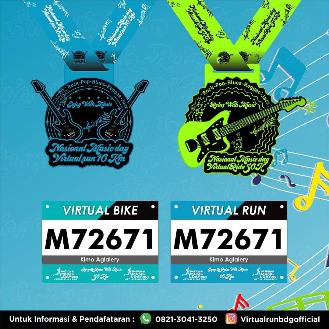 Medali � National Music Day - Virtual Run & Ride • 2021