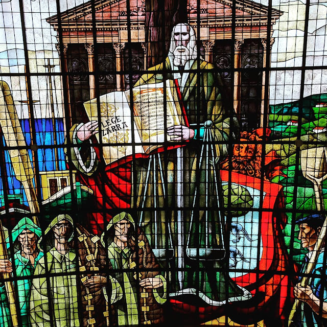 Bilbao Basque Country Day Trip: Stained Glass at the Basque Assembly House in Gernika
