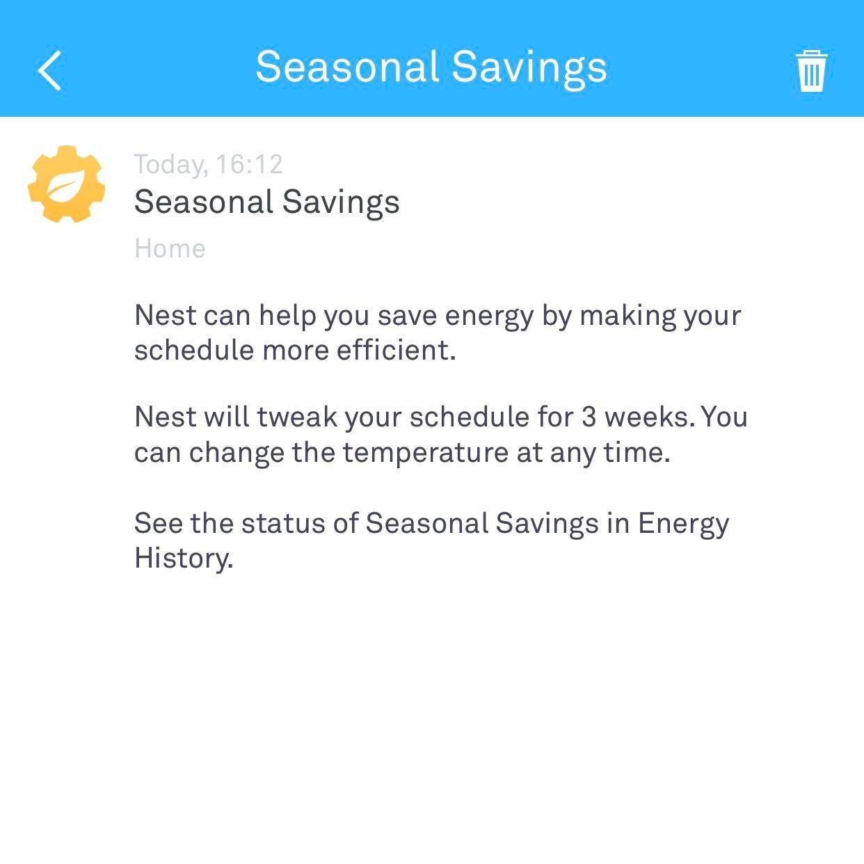 Nest Thermostats are getting Winter Seasonal Savings from Google.