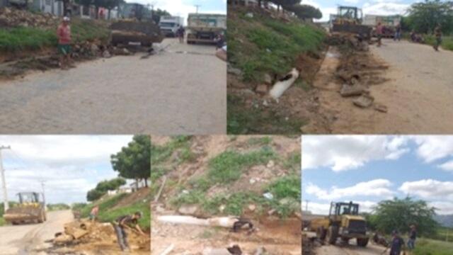 Prefeitura de Cacimba de Areia realiza consertos e reparos em galerias na cidade
