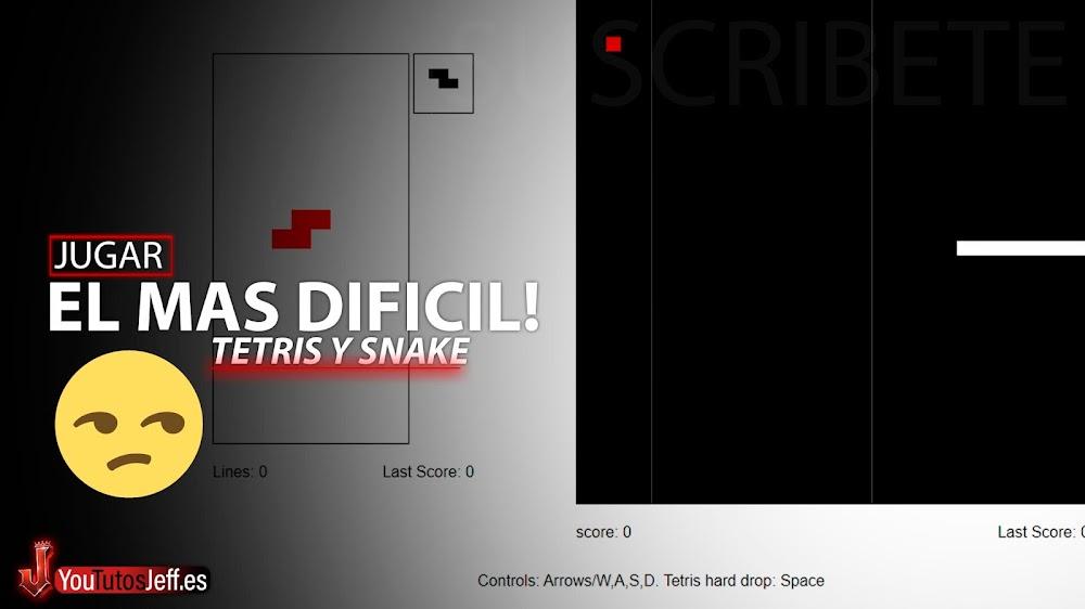 El Juego Mas Difícil? Tetris y Snake a la Vez🙄