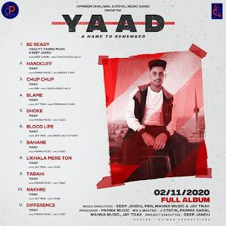 Dhoke by Yaad song listen online - DjPunjab