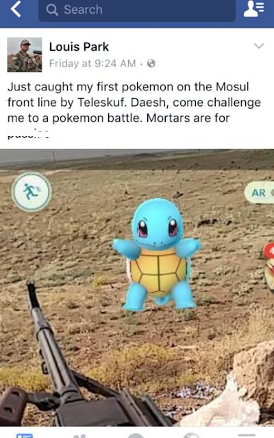 Lính Mỹ thách thức IS so tài bằng Pokemon Go