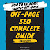 OFF-Page SEO Complete Guide 2019