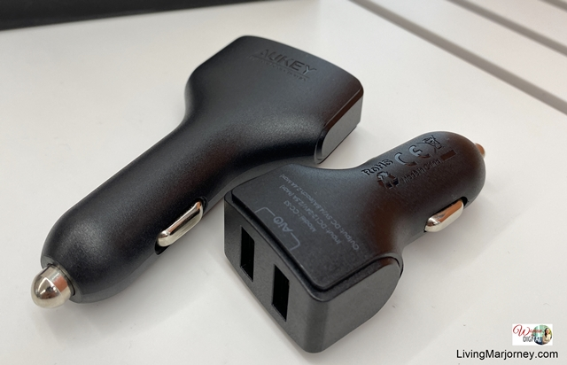 Dual Port Car Charger with Airpowe
