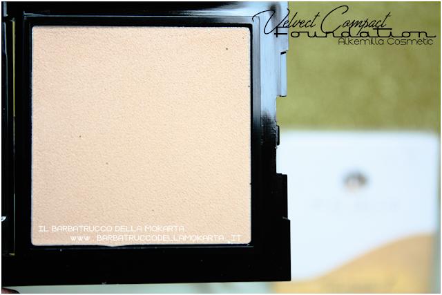 velvet compact foundation, fondotinta compatto in crema alkemilla  inci
