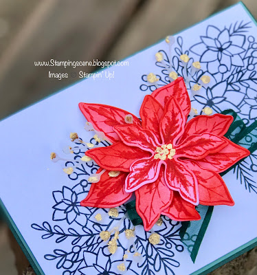 poinsettia stamp from stampin up for christmas craft and cards and stamping