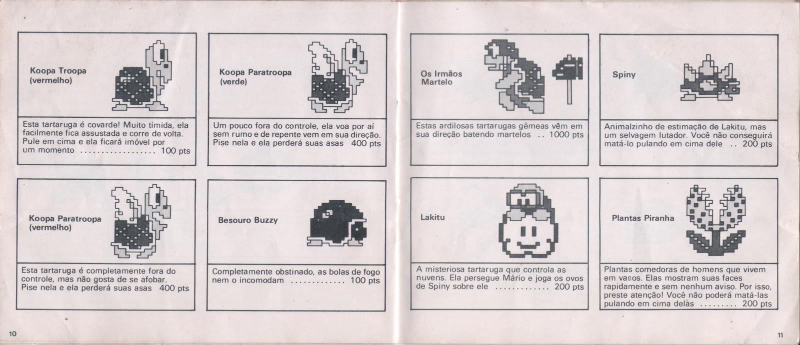 Super Irmãos (NES, BR) Manual Scans
