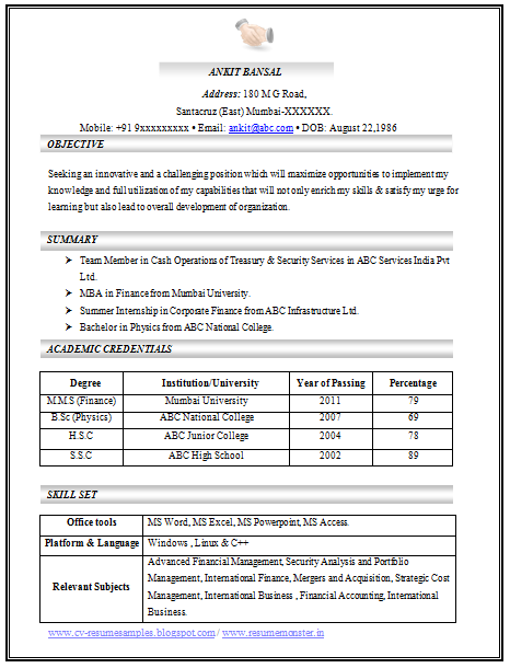 resume format samples 2014 the best resume format free resume samples cover letter over 10000 cv