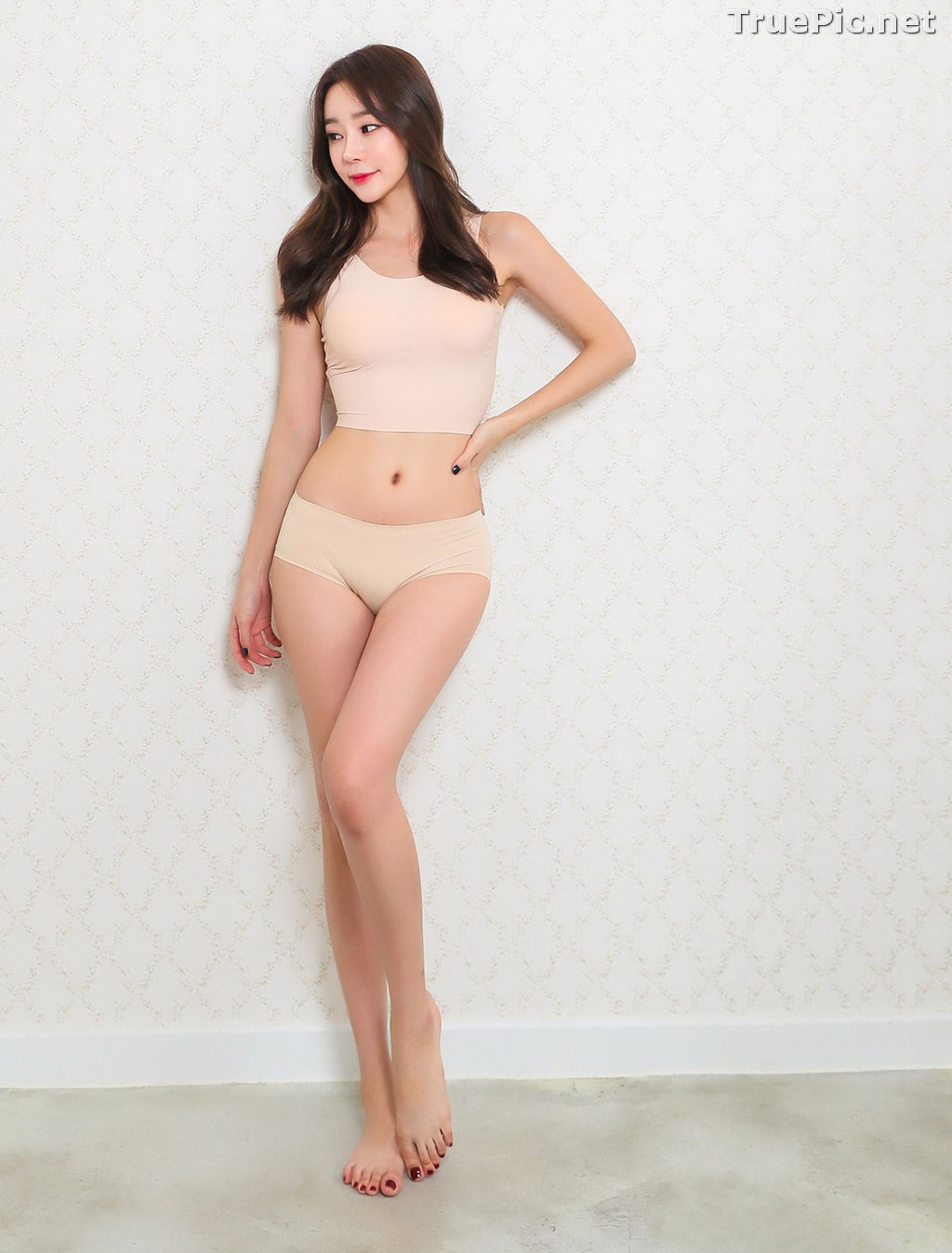 Image Hyun Kyung - Korean Fashion Model - Nude Color Undies - TruePic.net - Picture-4