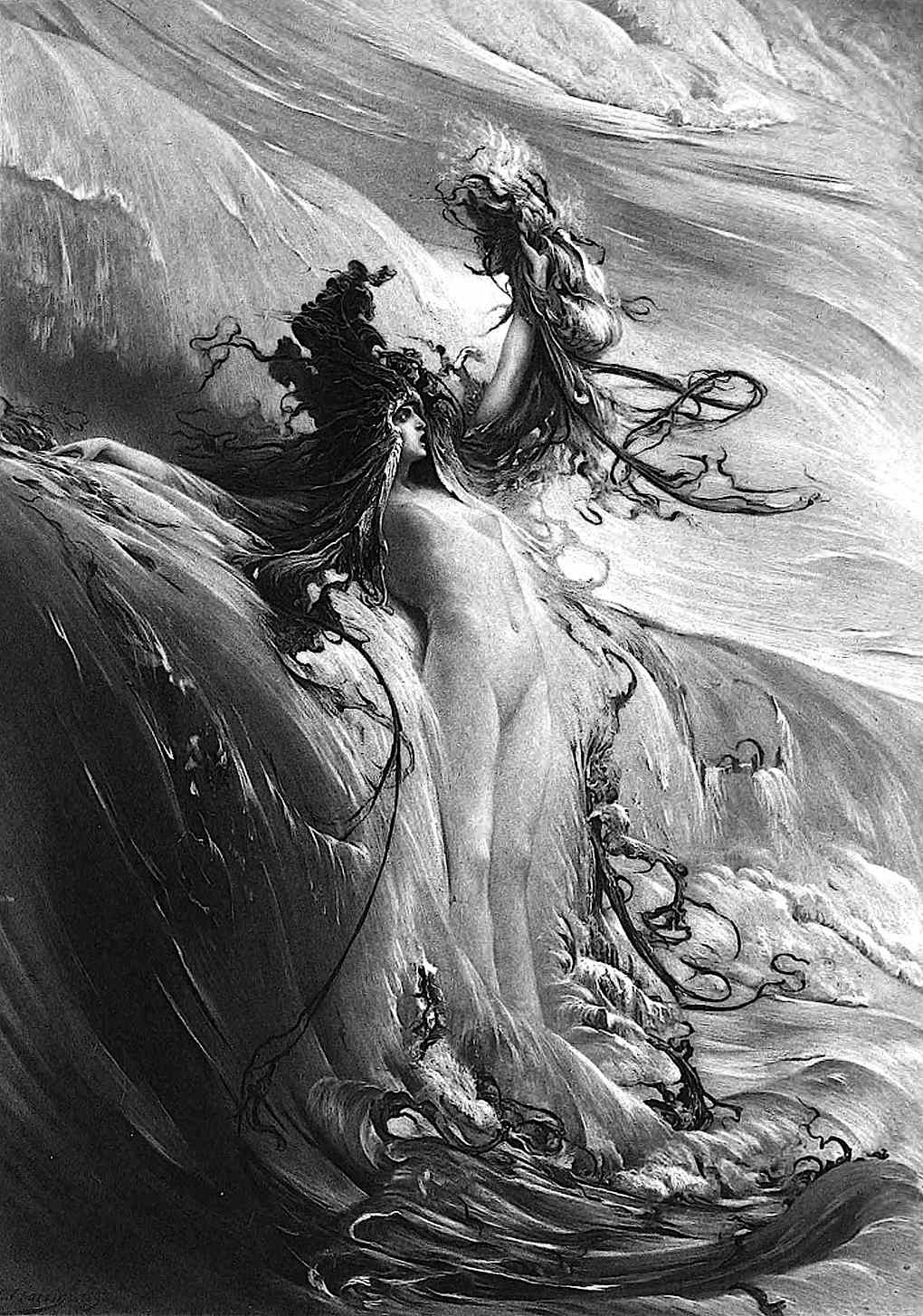 a G. Clairin painting 1898, Goddess of a River