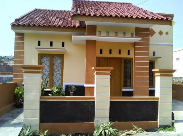 village single floor home front design