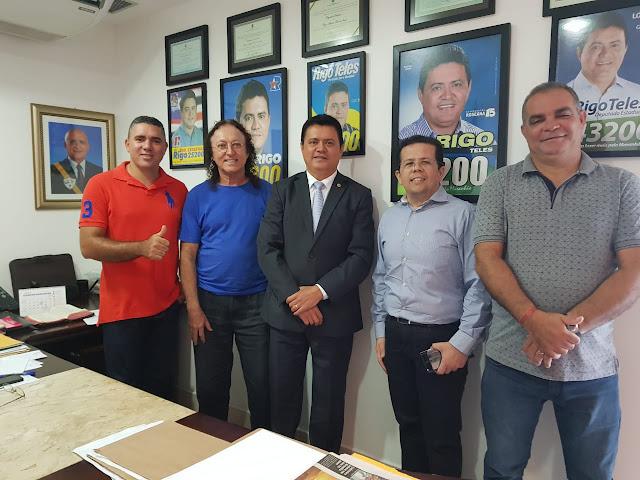 Deputado Rigo Teles conta com o apoio do prefeito Rone de Mirador e representantes políticos de Sucupira do Norte.