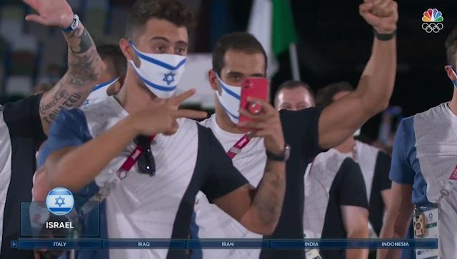 Tokyo 2021 Olympics Opening Ceremony Parade of Nations Israel Spider-man PopSocket