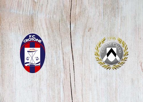 Crotone vs Udinese -Highlights 17 April 2021